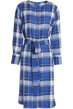 M.I.H JEANS Edie checked flannel shirt dress