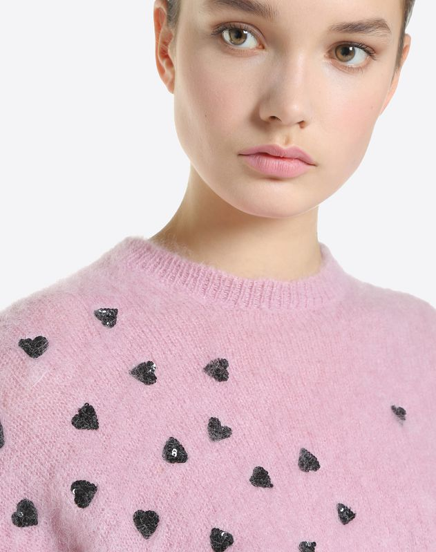 Pretty Hearts Embroidered Jumper