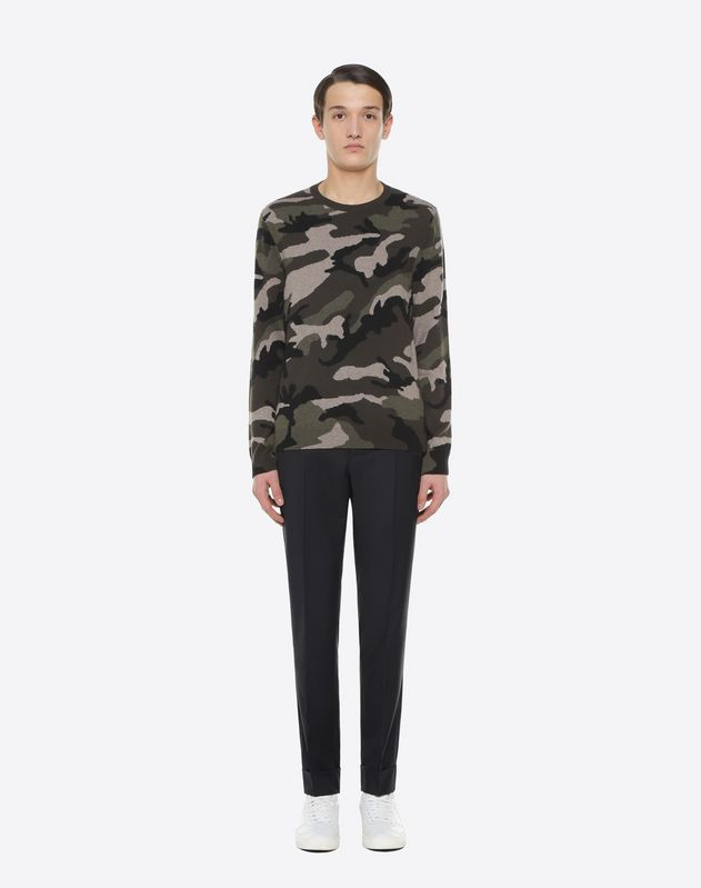 Rockstud Untitled camouflage crew-neck jumper