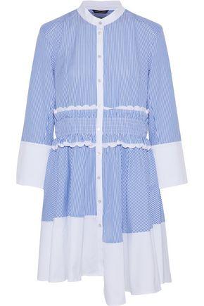 MARISSA WEBB Jada asymmetric striped cotton-poplin shirt dress