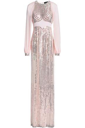 JENNY PACKHAM Embellished crepe gown