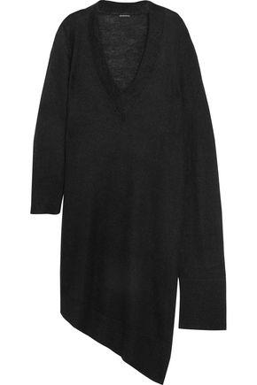 ANN DEMEULEMEESTER Asymmetric mohair-blend dress
