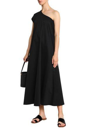 TOME One-shoulder cotton-blend midi dress