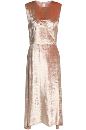 TOME Metallic chenille midi dress