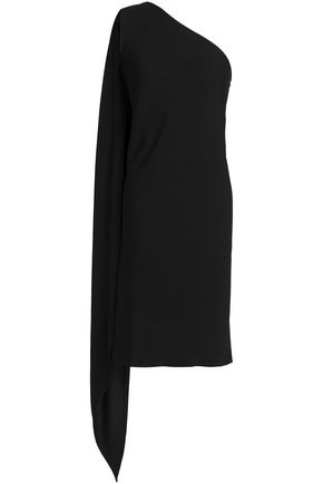 A.P.C. Odette one-shoulder draped crepe dress