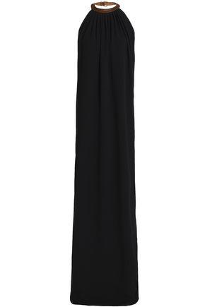 A.P.C. Open-back crepe halterneck maxi dress