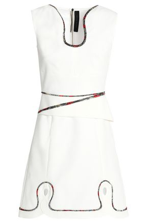 ROLAND MOURET Conrad cutout embroidered crepe mini dress