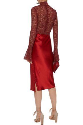 ALIX Haven corded lace turtleneck bodysuit
