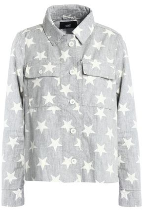LINE Printed cotton jacket