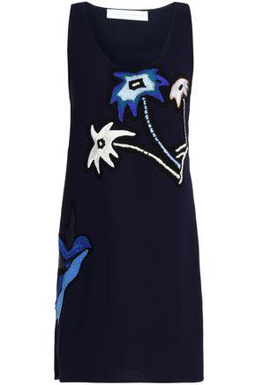 VICTORIA, VICTORIA BECKHAM Embellished embroidered crepe mini dress