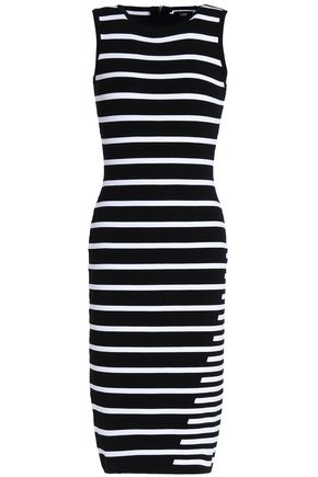 LINE Striped knitted dress