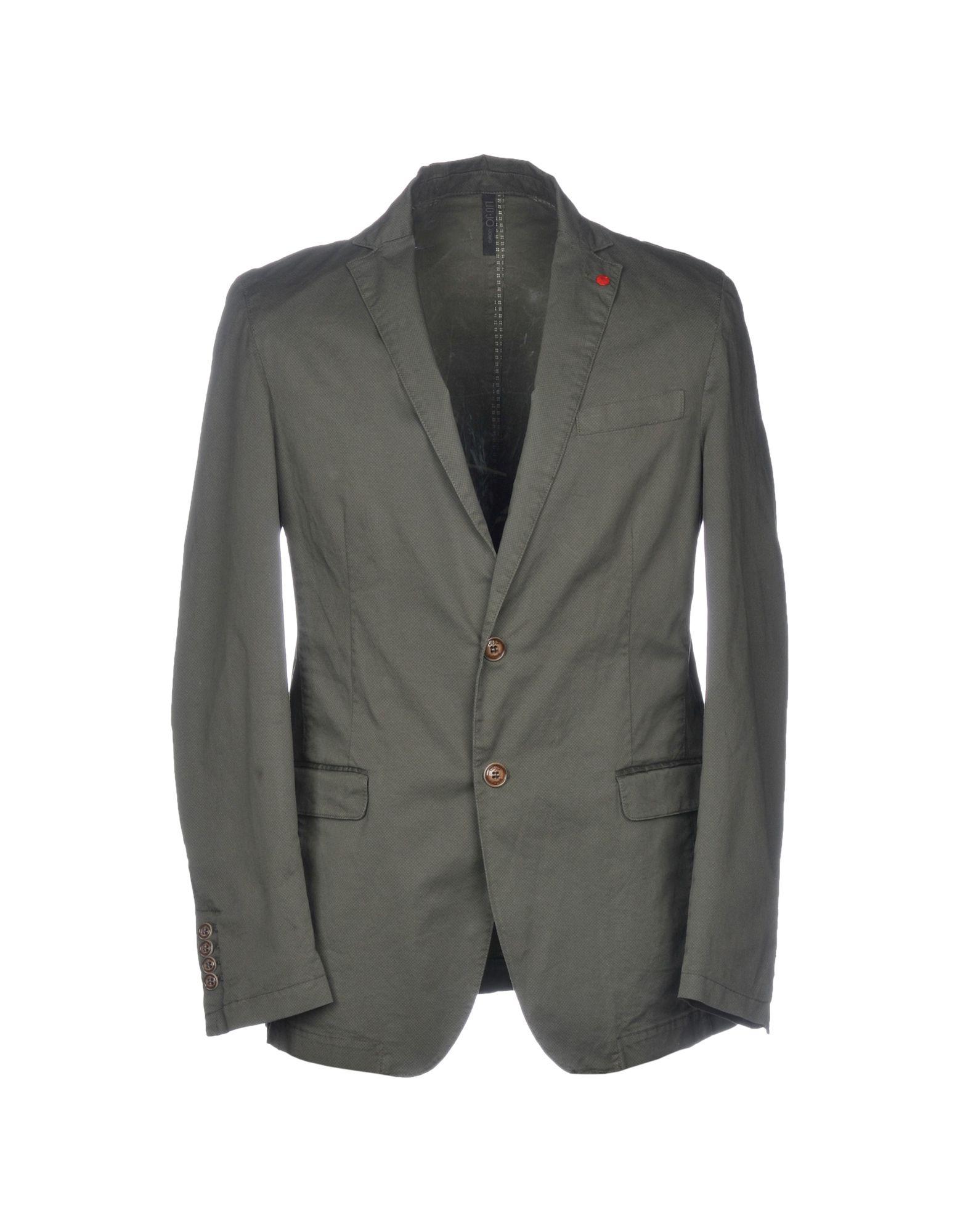 《セール開催中》LIU? JO MAN メンズ テーラードジャケット ミリタリーグリーン 44 コットン 98% / ポリウレタン 2%