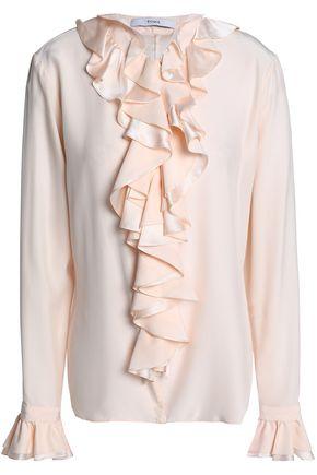 TOME Ruffled silk-satin blouse