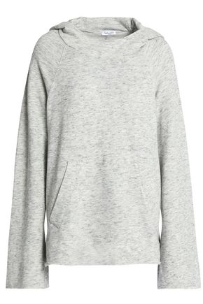 SPLENDID Marled French cotton-blend terry hoodie