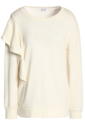 SPLENDID Ruffled French cotton-terry sweatshirt