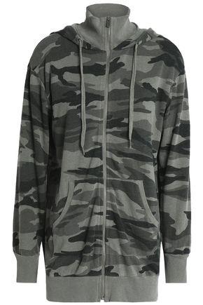 SPLENDID Printed jersey hoodie