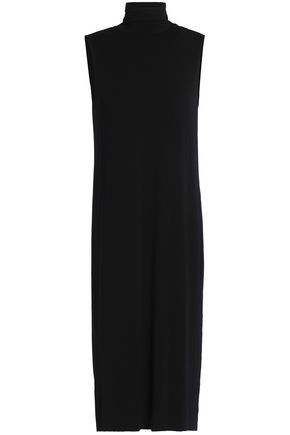 SPLENDID Cutout stretch-jersey turtleneck dress