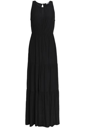 SPLENDID Gathered jersey maxi dress