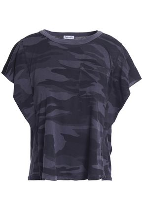 SPLENDID Printed stretch-Supima cotton jersey T-shirt