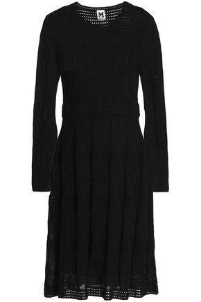 M MISSONI Pointelle-knit wool-blend dress