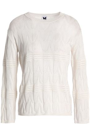 M MISSONI Pointelle-knit wool-blend sweater