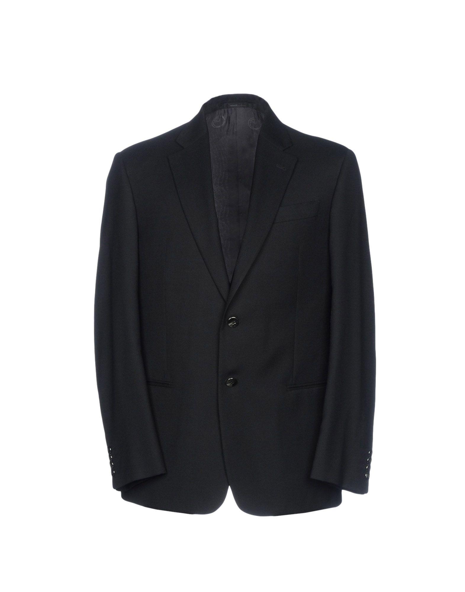《セール開催中》ARMANI COLLEZIONI メンズ テーラードジャケット ブラック 56 バージンウール 100%