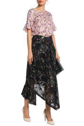 PREEN by THORNTON BREGAZZI Sarah floral-print hammered-silk top