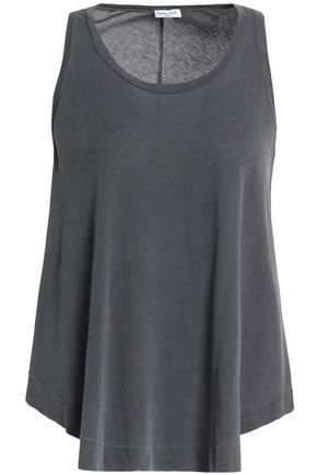 SPLENDID Draped slub Supima cotton-jersey tank