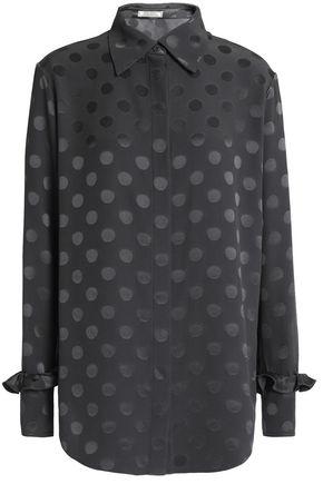 NINA RICCI Polka-dot silk-jacquard shirt