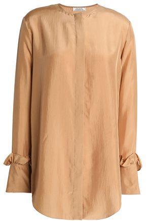 NINA RICCI Ruflfe-trimmed silk blouse