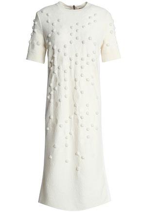 NINA RICCI Embellished brushed wool-blend bouclé midi dress