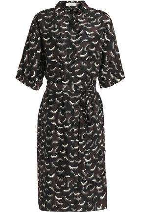 NINA RICCI Printed silk crepe de chine shirt dress