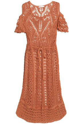 SEE BY CHLOÉ Cold-shoulder crocheted cotton dress