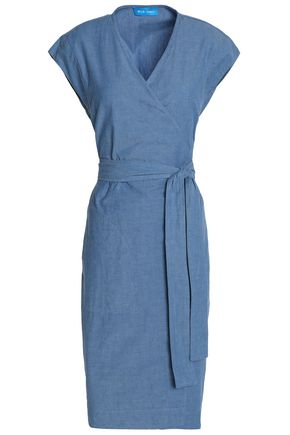 M.I.H JEANS Frankie cotton-chambray wrap dress