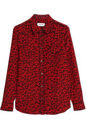 COACH Leopard-print silk shirt