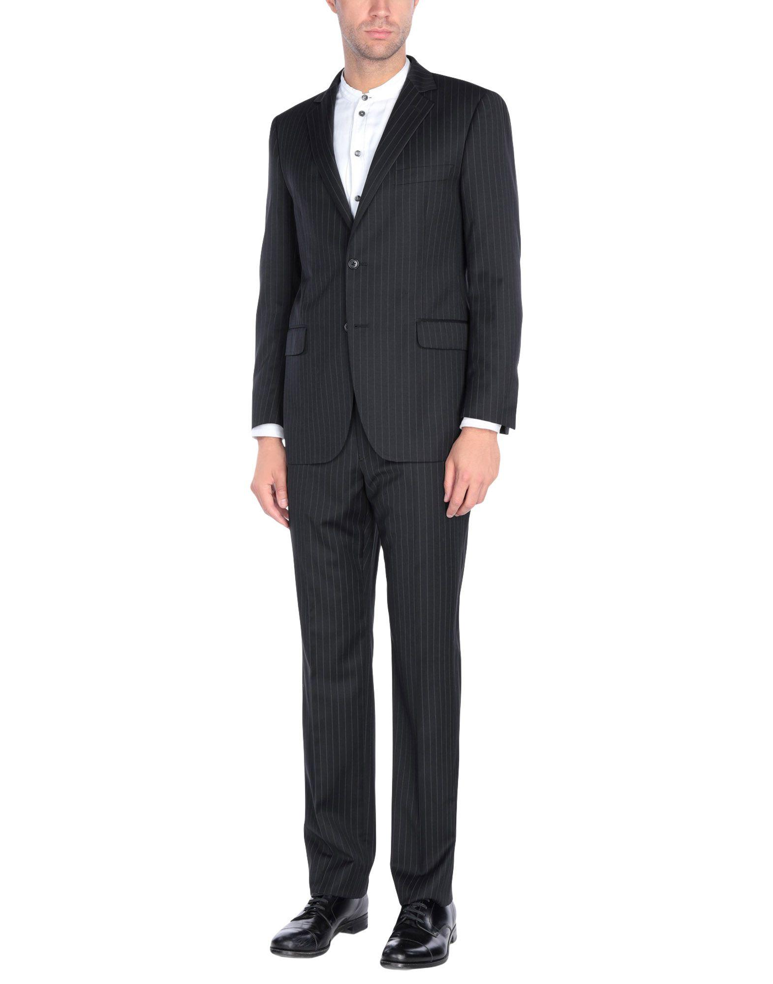 《送料無料》LARDINI メンズ スーツ ブラック 40 ウール 100%