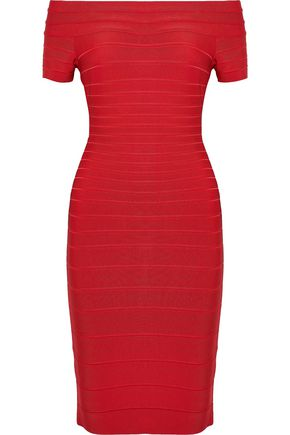 HERVÉ LÉGER Carmen off-the-shoulder bandage dress