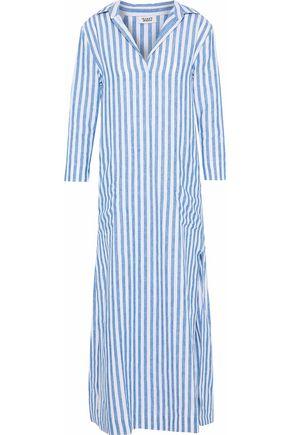 SLEEPY JONES Celia striped linen nightgown