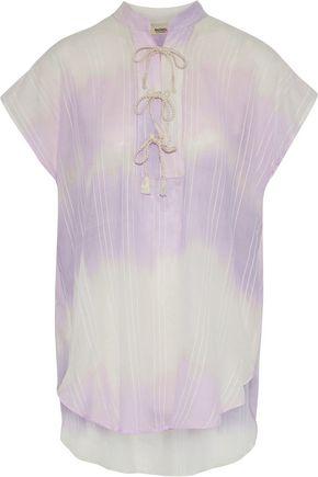 LEMLEM Embroidered dégradé cotton-gauze tunic
