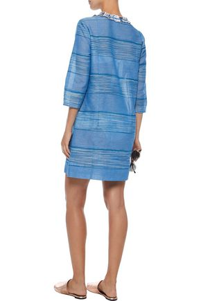 LEMLEM Embroidered cotton-gauze coverup