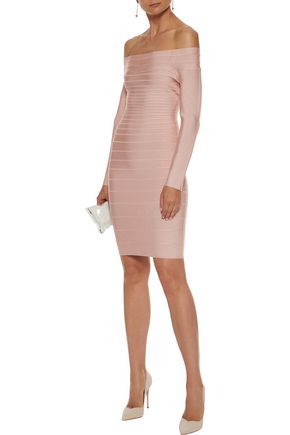 13498cd80f HERVÉ LÉGER Candice off-the-shoulder bandage dress
