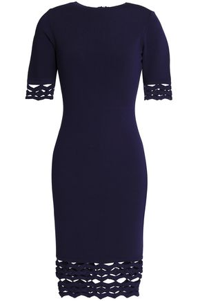 MILLY Cutout stretch-knit dress