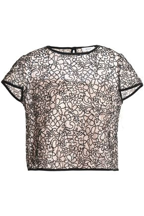 MILLY Corded lace top