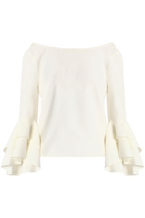 MILLY Annie ruffled crepe blouse