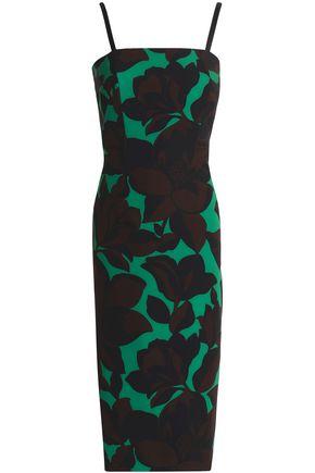 MILLY Elle floral-print cady dress