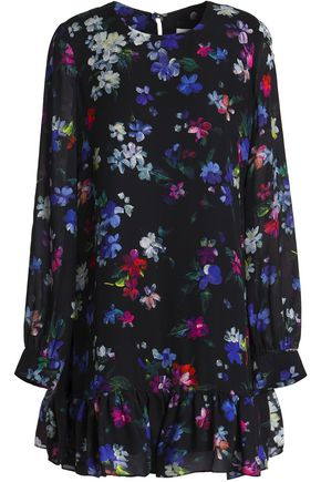 MILLY Rachel floral-print silk mini dress