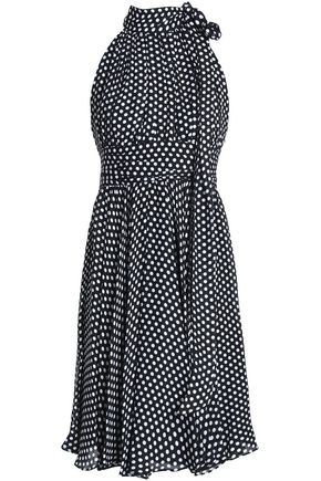 MILLY Lydia pussy-bow polka-dot silk dress