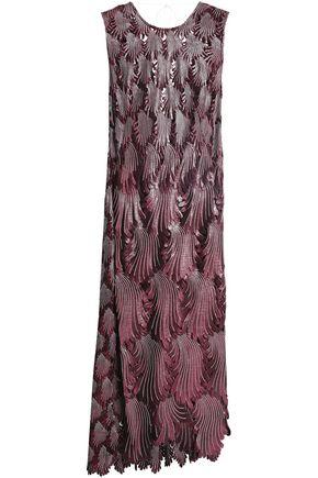 MARCO DE VINCENZO Bow-detailed guipure lace midi dress