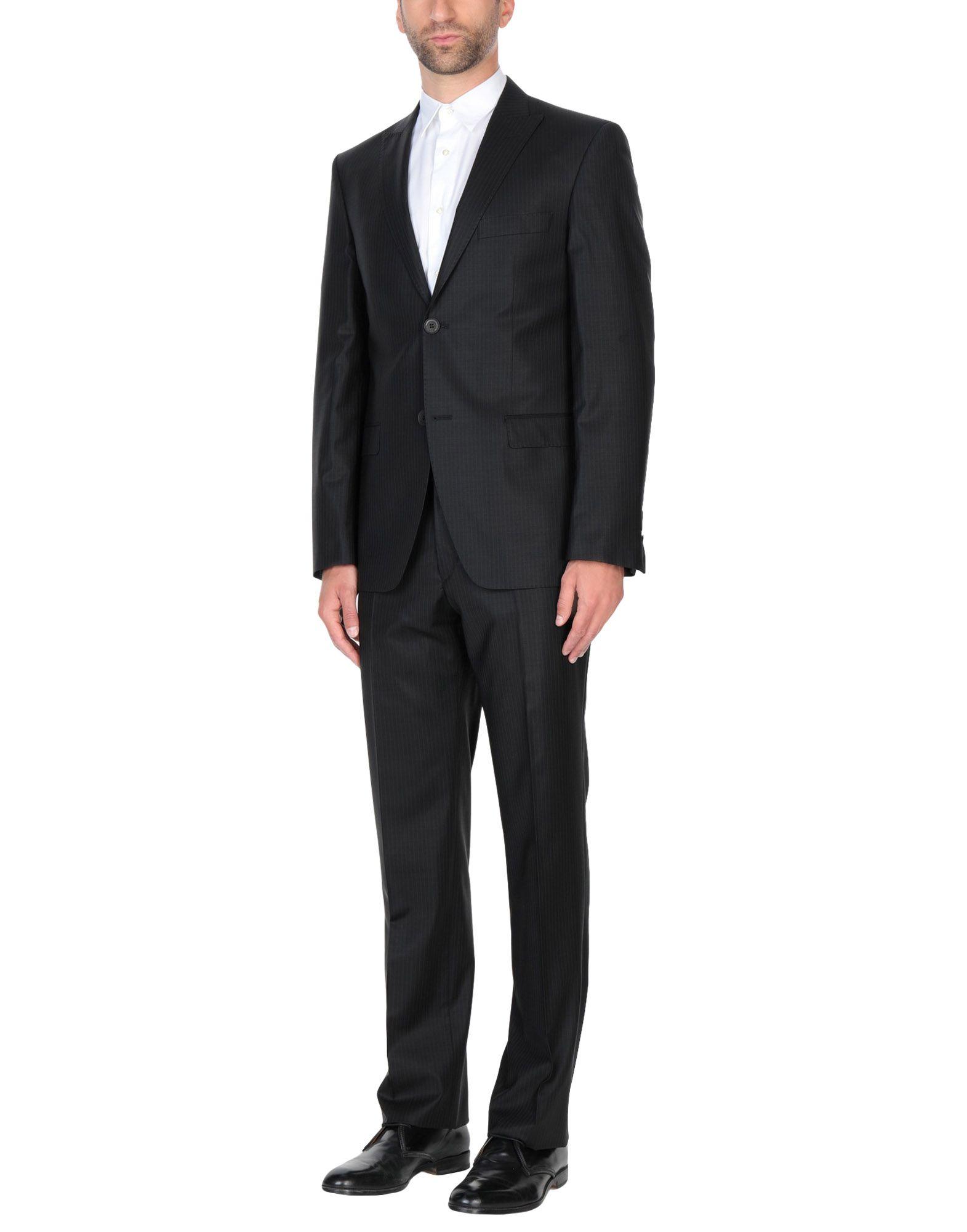 《セール開催中》CAVALLI CLASS メンズ スーツ ブラック 56 ウール 88% / ナイロン 9% / ポリウレタン 3%