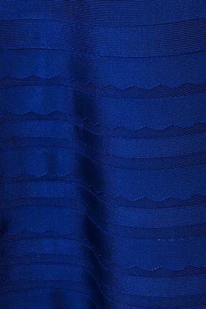 HERVÉ LÉGER Jules scalloped bandage mini dress